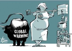 Global warming debunked: carbon dioxide cools atmosphere