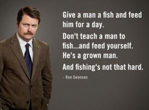 Ron Swanson On Fishing
