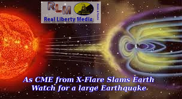 CME Slams Earth