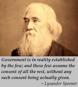 Lysander Spooner - Government consent