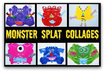 monster splat collages