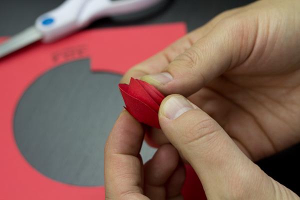 Paper Rose Cutout Step 4