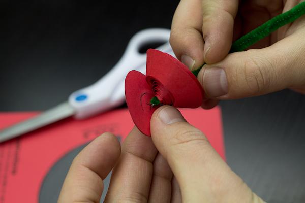 Paper Rose Cutout Step 5