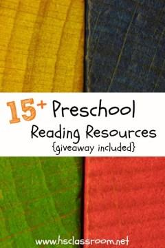 15+ Preschool Reading Resources | The Homeschool Classroom