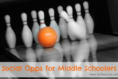 Suggestions of group activities for the middle school crowd