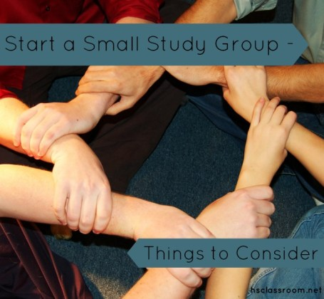 Start a Small Study Group - Things to Consider - www.reallifeathome.com