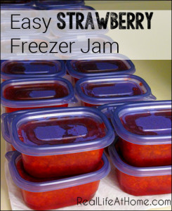Easy Strawberry Freezer Jam | RealLifeAtHome.com