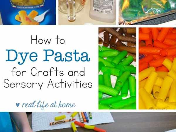 How to Dye Pasta for Crafts and Sensory Activities