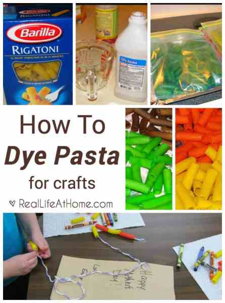 An easy step-by-step guide on how to dye pasta for crafts