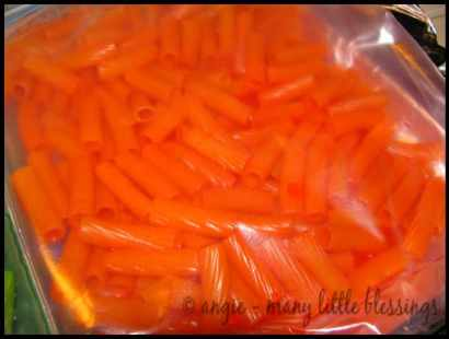pasta craft orange