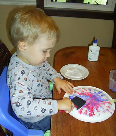 Painting on Fireworks Art Project from Real Life at Home