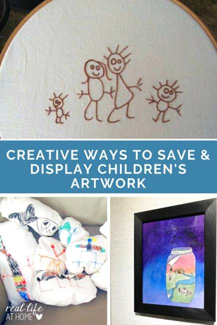 Creative Ways to Save and Display Children's Artwork : Wonderful ways to make your children's artwork into keepsakes