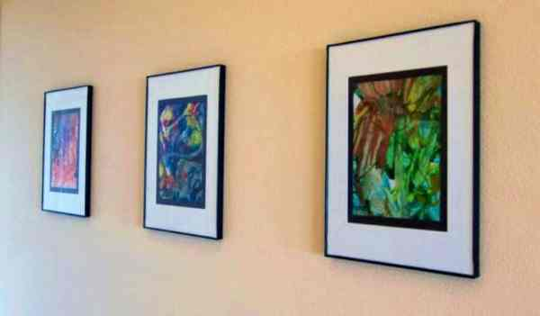 Show your children you love their artwork by framing artwork