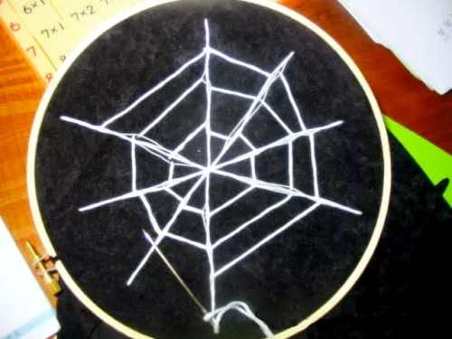 Spider Web Craft with Hand Sewing for Kids | RealLifeAtHome.com