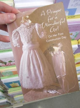 Vintage Dress First Communion Card