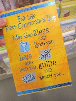 Colorful First Communion Cards