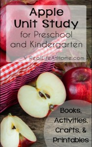 Apple Unit Study for Preschool and Kindergarten {Includes ideas for books, activities, crafts, and printables} | RealLifeAtHome.com