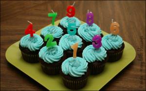 numbered cupcakes