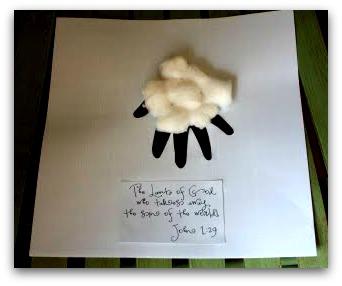 lamb handprint craft