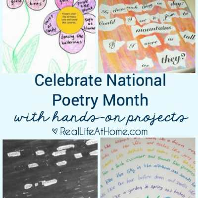 A great selection of hands-on poetry projects for children (and adults!)