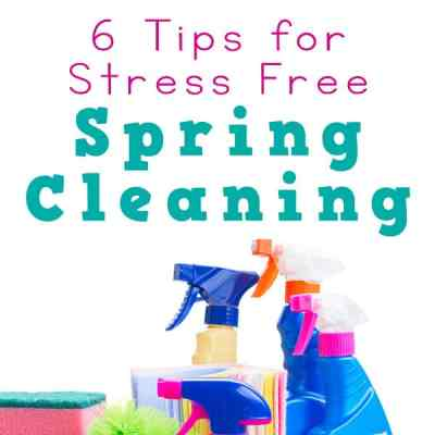 Need some ideas for stress free spring cleaning this year? Here are practical tips to lead your family to a fun and stress free time during your spring cleaning. | Real Life at Home