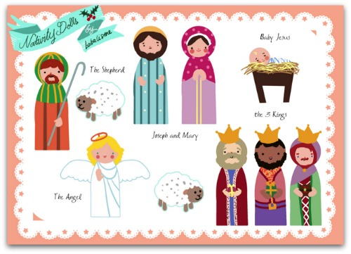 nativity paper dolls