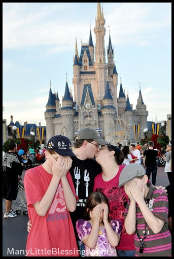 A kiss at Disney World