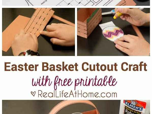 Free Printable: Easter Basket Cutout Craft