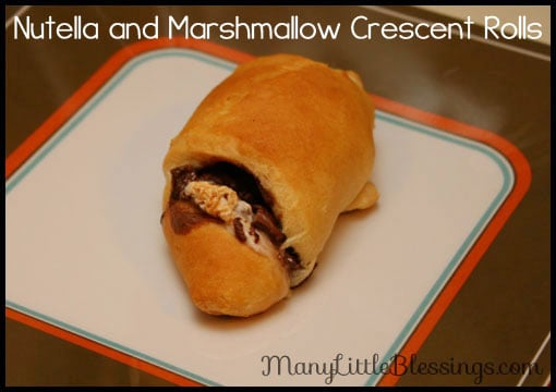 Nutella and Marshmallow Crescent Rolls