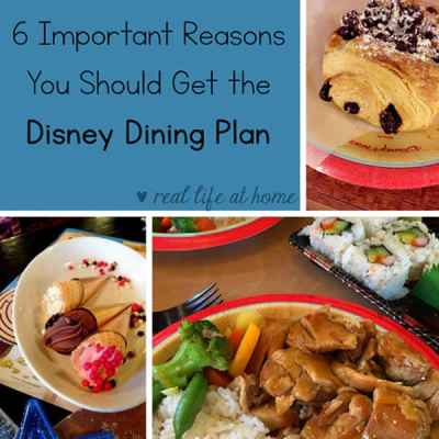 While they Disney Dining Plan can seem like an extravagant add on to your vacation, here are six reasons you should seriously consider adding a Disney Dining Plan to your next Disney vacation (It just might make your vacation easier, less stressful, and more fun!)