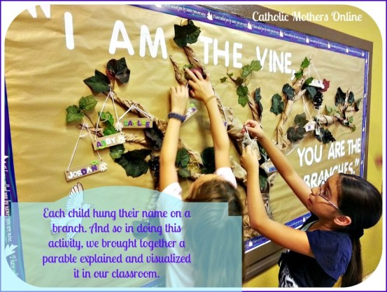 I am the Vine Scripture Verse Activity | Catholic Mothers Online