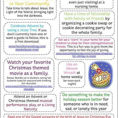 10 Activities to Prepare Your Family for Christmas {Free Printable}