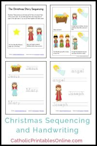 Christmas Mini Book and Handwriting Printables