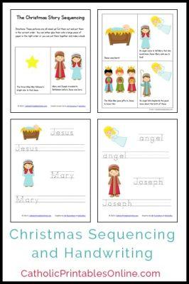 Christmas Mini Book and Handwriting Printables