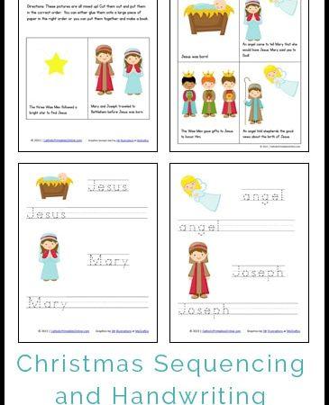 Christmas Mini Book and Handwriting Printables Pack