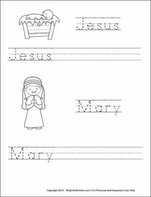 Christmas Handwriting Pages for Kids