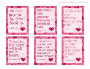 Religious Valentine cards