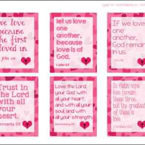 Free Printable Bible Verse Valentines for Kids