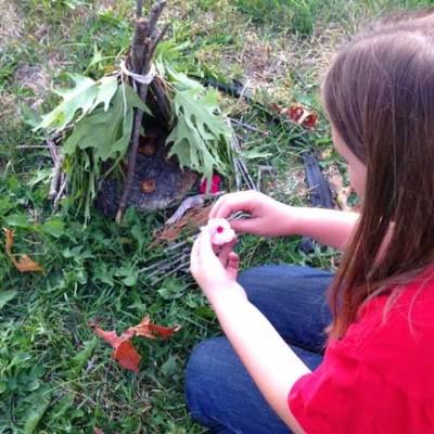 How to Build a Teepee Style Fairy House