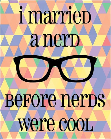 I Married a Nerd Before Nerds were Cool