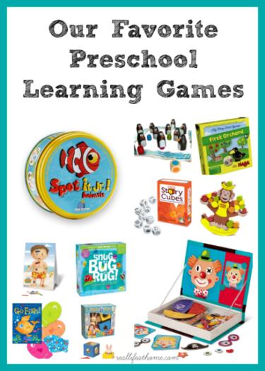 Favorite Preschool Learning Games