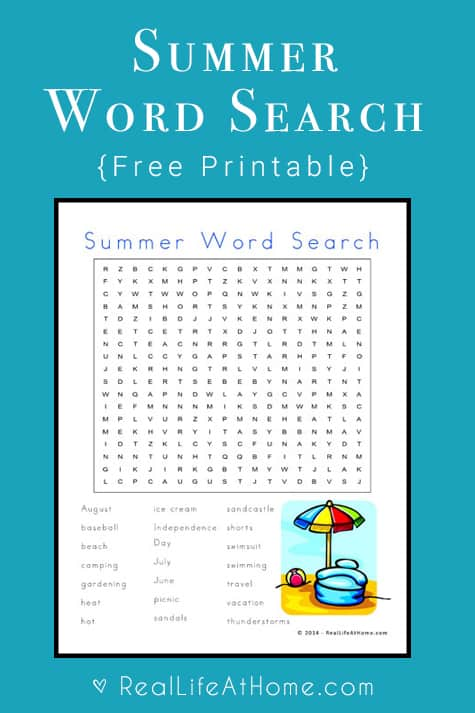 picture regarding Summer Word Search Printable called Free of charge Summer season Phrase Look: Summer months Themed Term Glance Printable