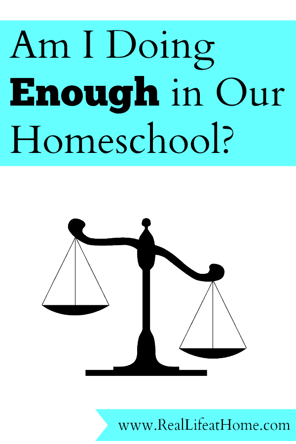 Am I Doing Enough in My Homeschool?