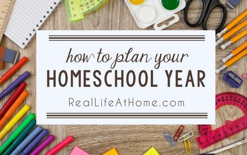 Feeling unsure of how to plan out your homeschooling? Here are some easy tips for how to plan your homeschool year.   Real Life at Home