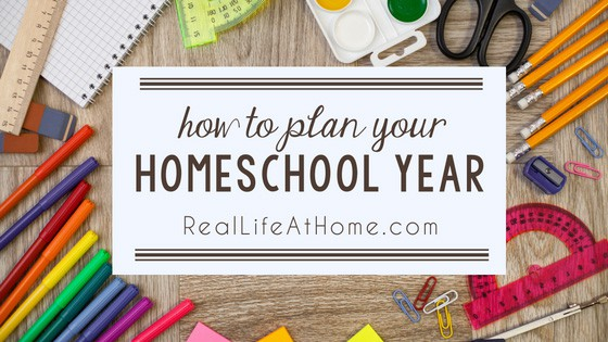 Feeling unsure of how to plan out your homeschooling? Here are some easy tips for how to plan your homeschool year. | Real Life at Home