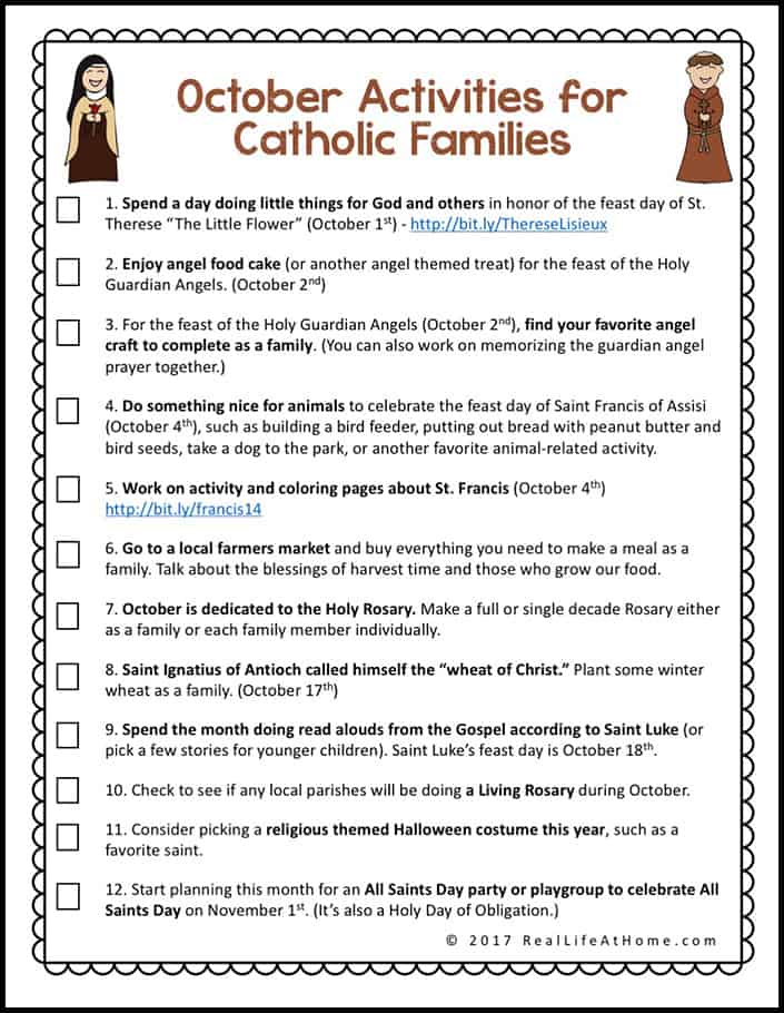 picture regarding How to Pray the Rosary Printable Version known as 12 Oct Things to do for Catholic Households Printable