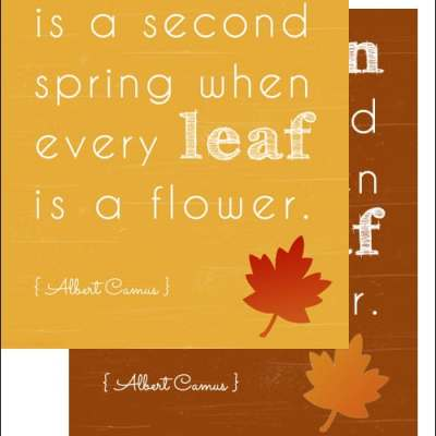 Autumn is a Second Spring When Every Leaf is a Flower {Free Art Print Download}