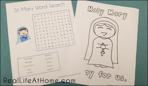 photograph regarding How to Pray the Rosary for Kids Printable identify St. Mary and the Rosary Printables and Worksheet Packet