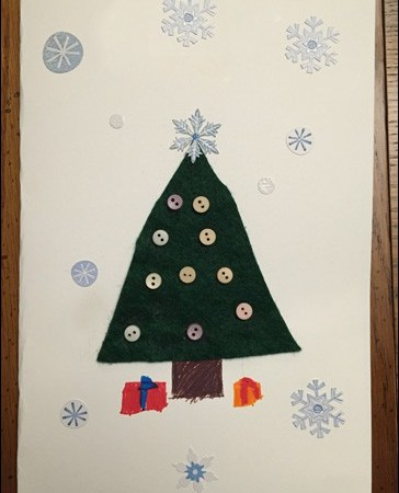 Easy, Kid-Friendly Christmas Card Craft