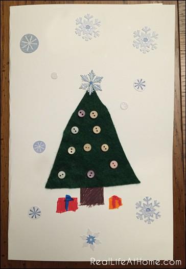 Easy Kid-Friendly Christmas Card Craft   RealLifeAtHome.com